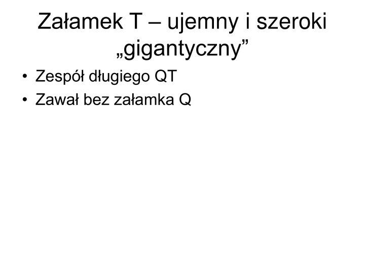 """Załamek T – ujemny i szeroki """"gigantyczny"""""""