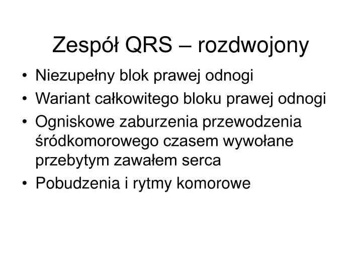 Zespół QRS – rozdwojony