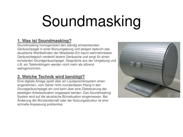 Soundmasking