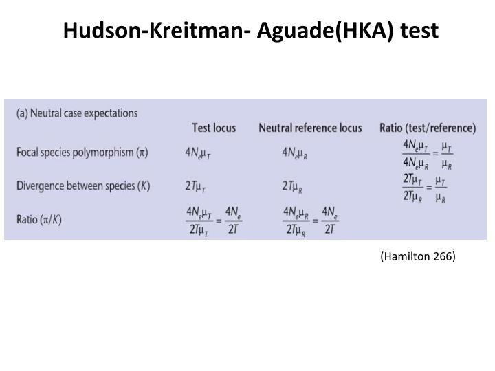 Hudson-Kreitman- Aguade(HKA) test