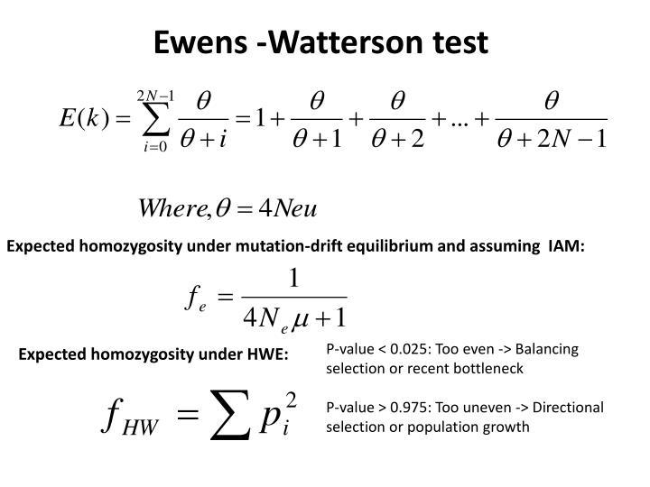 Ewens -Watterson test
