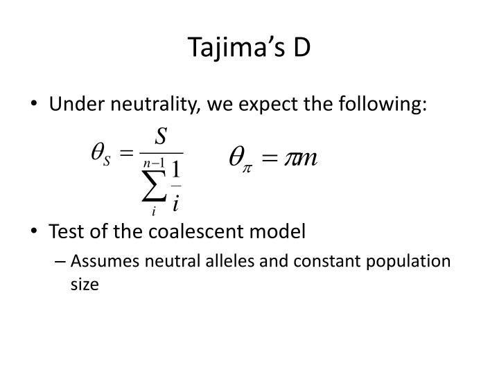 Tajima's D