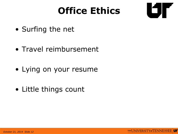Office Ethics