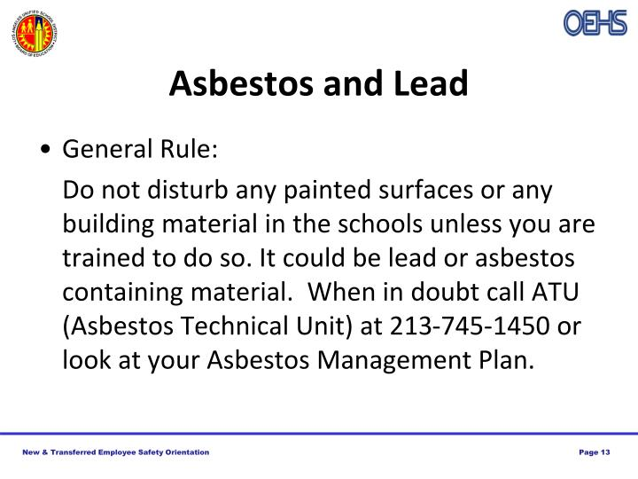 Asbestos and Lead