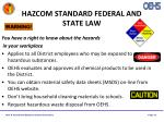 hazcom standard federal and state law