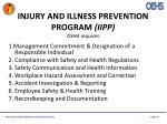 injury and illness prevention program iipp osha requires