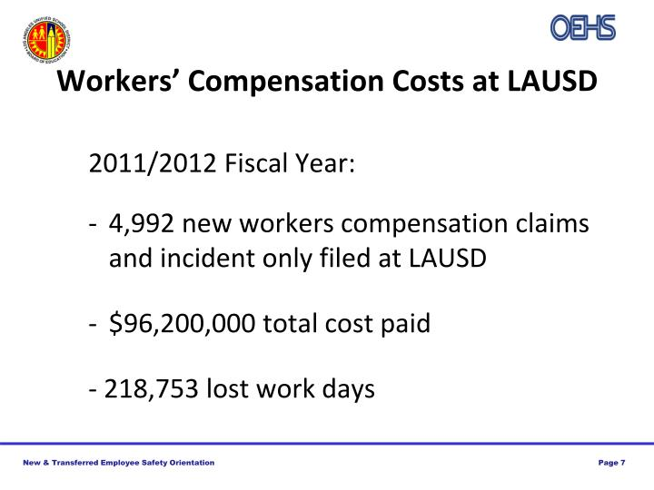 Workers' Compensation Costs at LAUSD