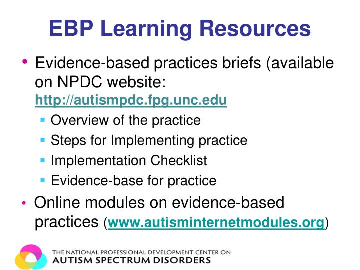 EBP Learning Resources