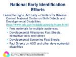 national early identification efforts