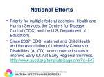 national efforts