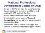national professional development center on asd