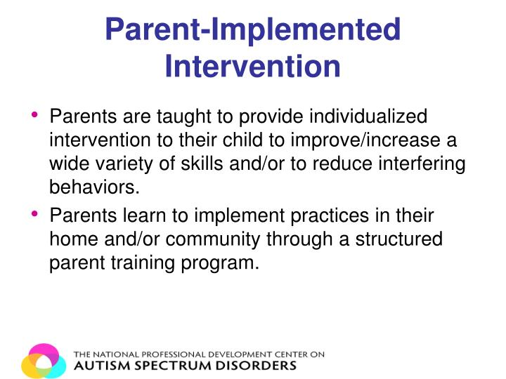 Parent-Implemented Intervention