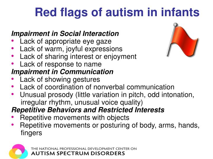 Red flags of autism in infants