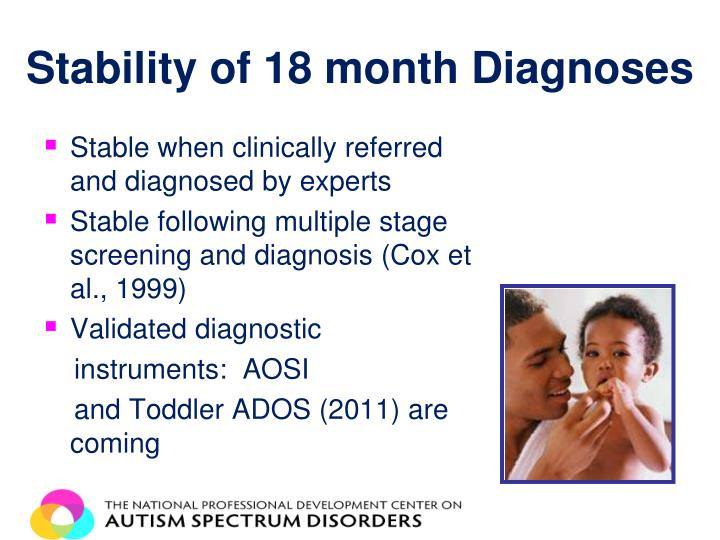 Stability of 18 month Diagnoses