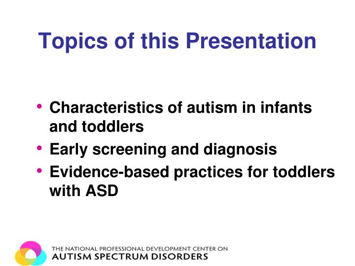 Topics of this Presentation