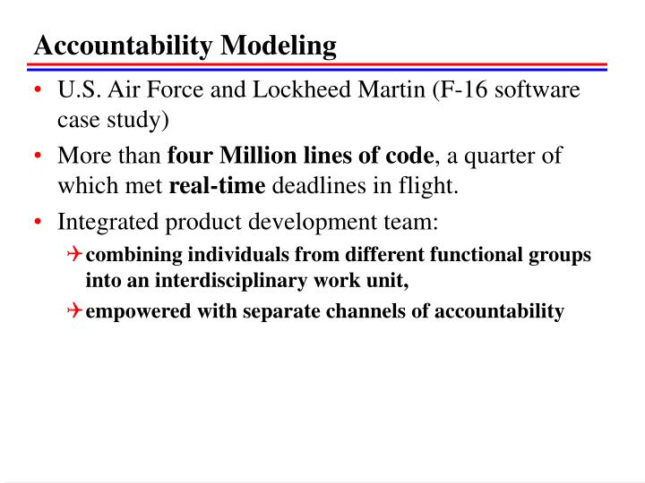 Accountability Modeling