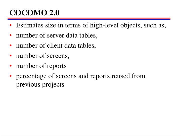 COCOMO 2.0