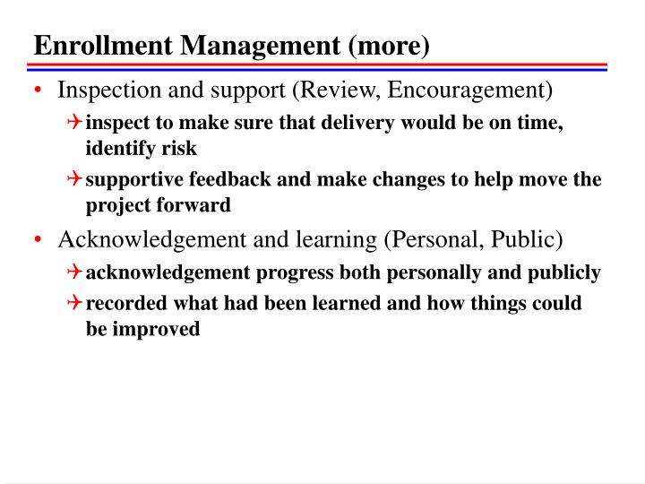 Enrollment Management (more)