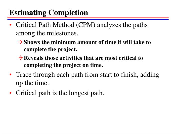 Estimating Completion