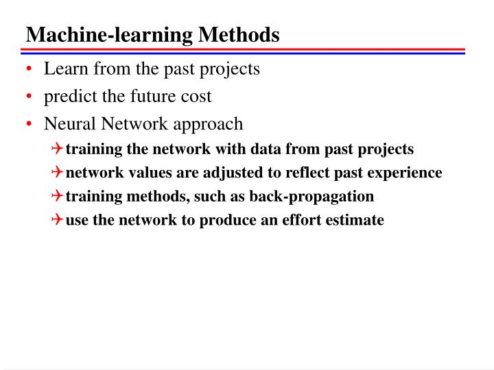 Machine-learning Methods