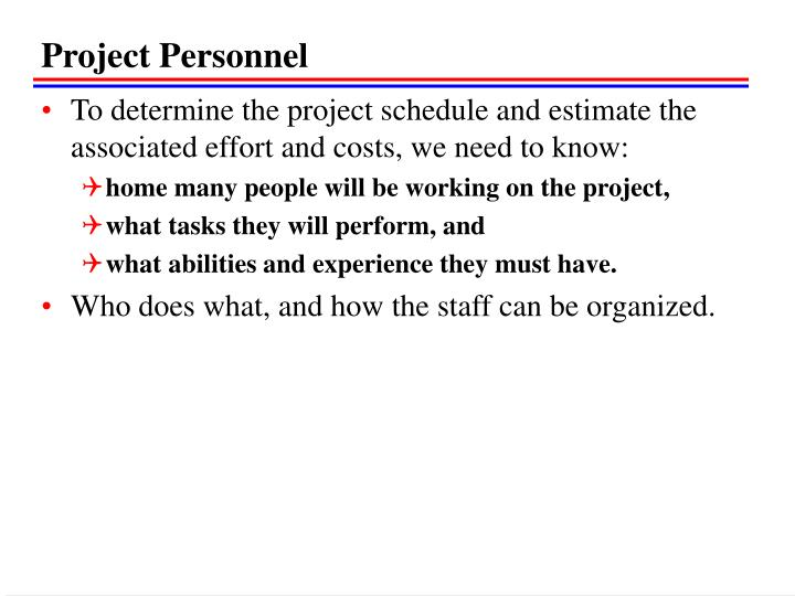 Project Personnel