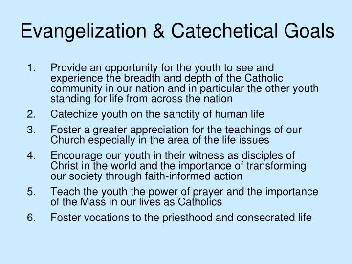 Evangelization & Catechetical Goals