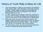 history of youth rally mass for life