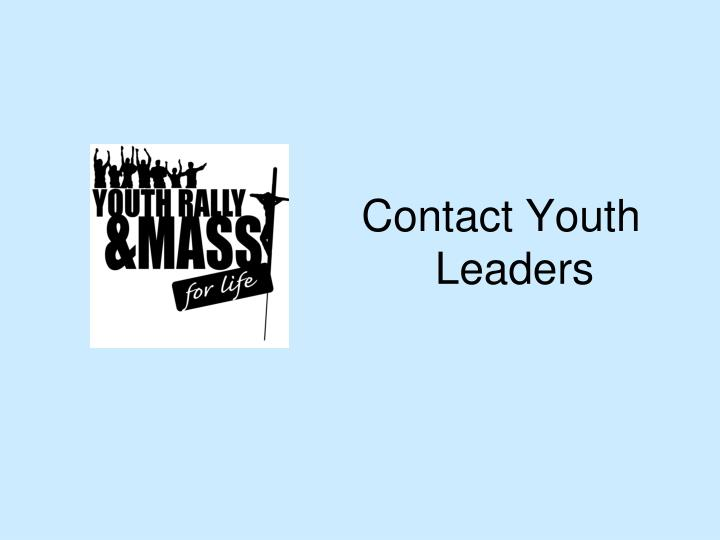 Contact Youth Leaders