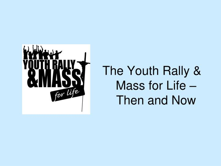 The Youth Rally & Mass for Life – Then and Now