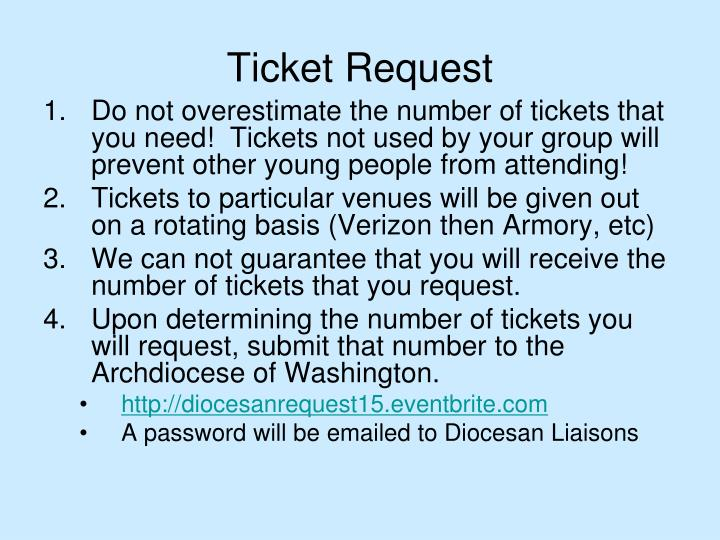 Ticket Request