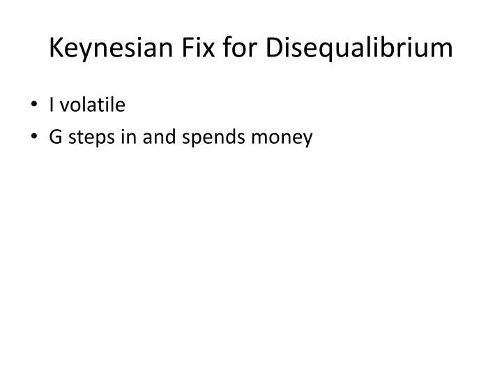 Keynesian Fix for