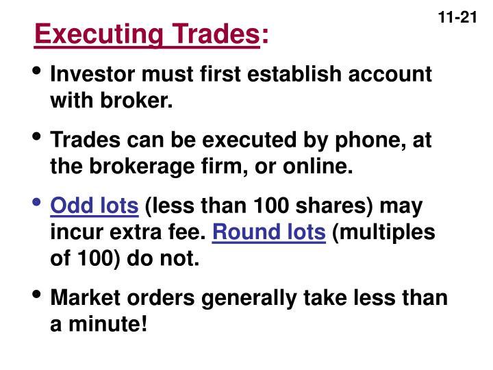 Executing Trades