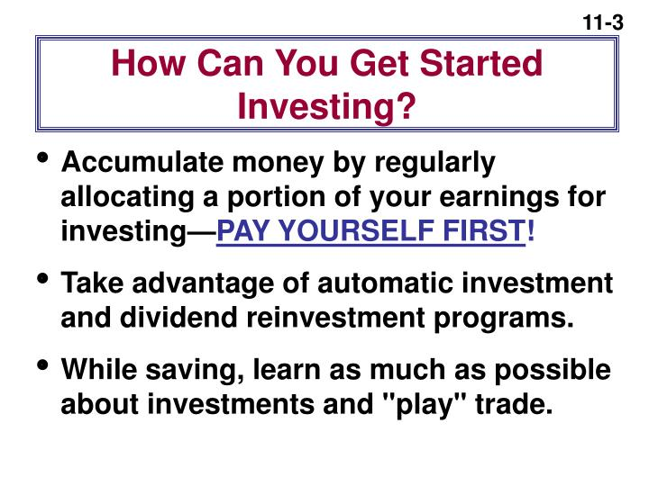 How Can You Get Started Investing?