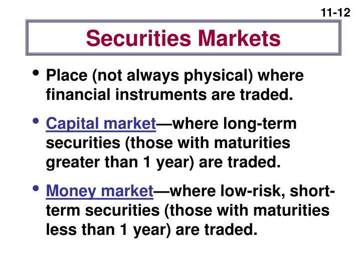 Securities Markets