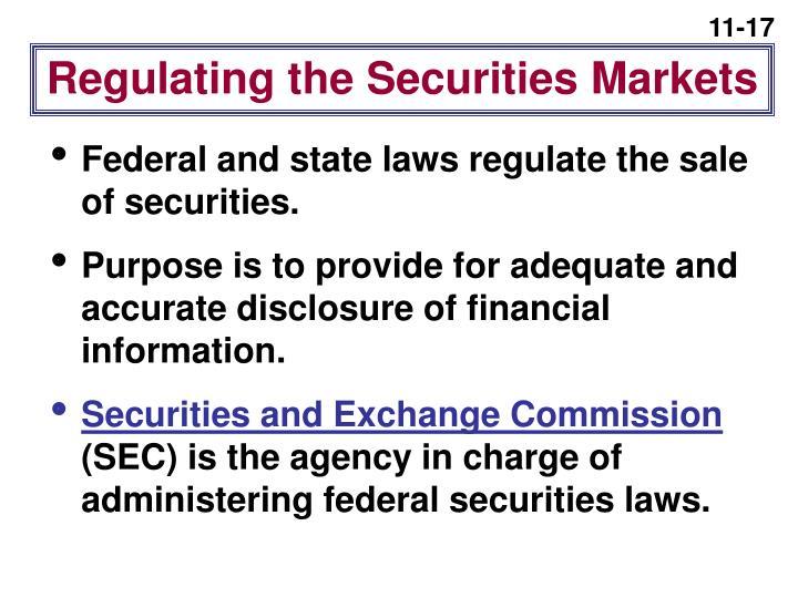 Regulating the Securities Markets