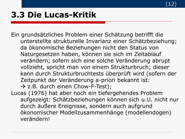 3.3 Die Lucas-Kritik