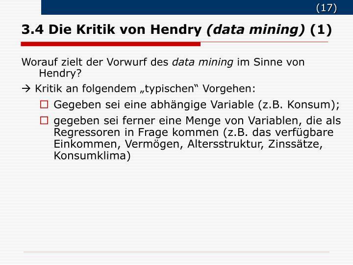 3.4 Die Kritik von Hendry