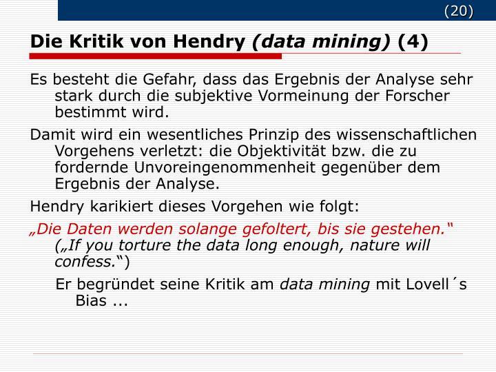 Die Kritik von Hendry