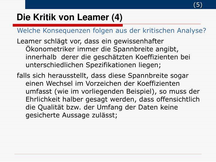 Die Kritik von Leamer (4)