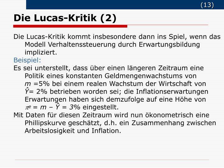 Die Lucas-Kritik (2)