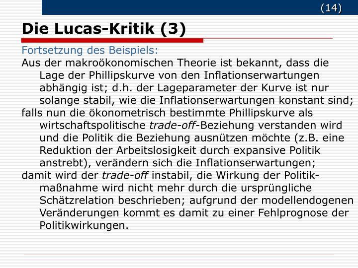 Die Lucas-Kritik (3)