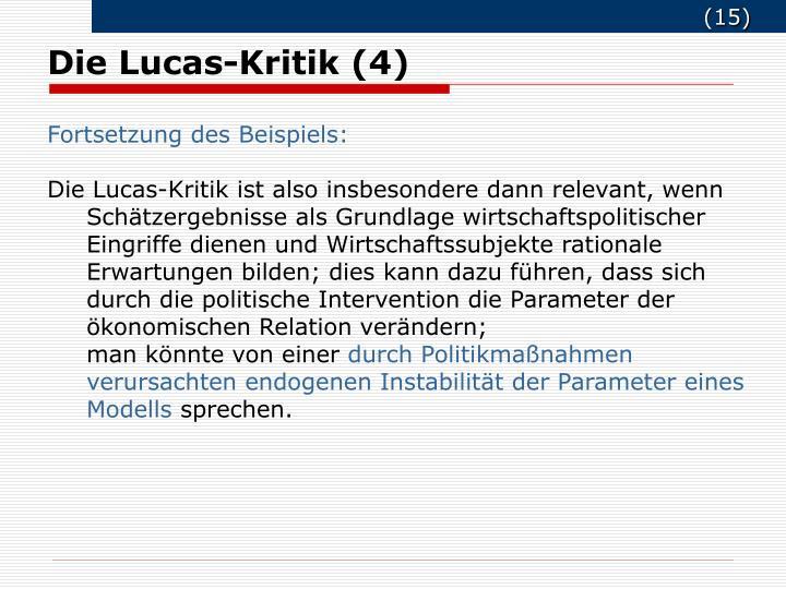 Die Lucas-Kritik (4)