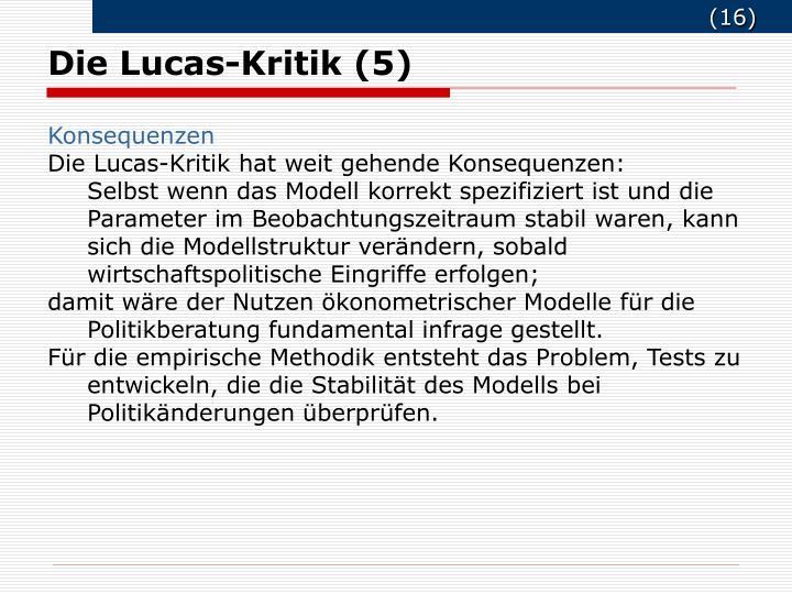 Die Lucas-Kritik (5)