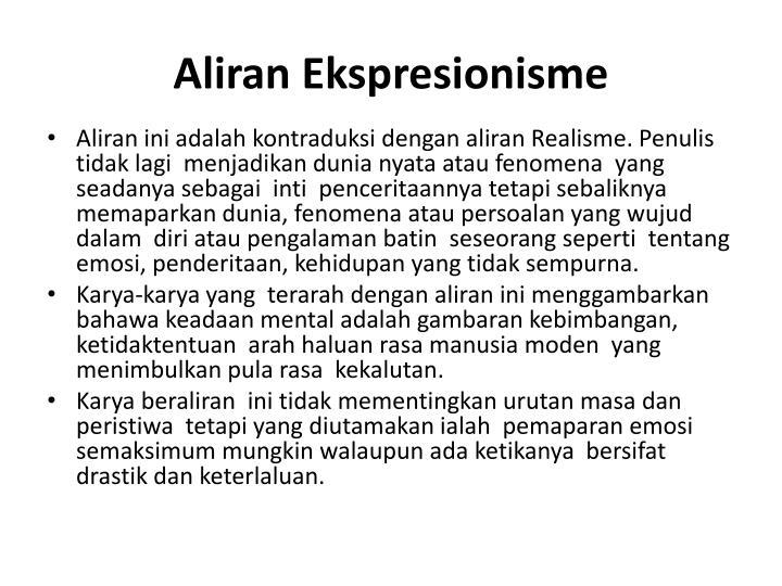 Aliran Ekspresionisme