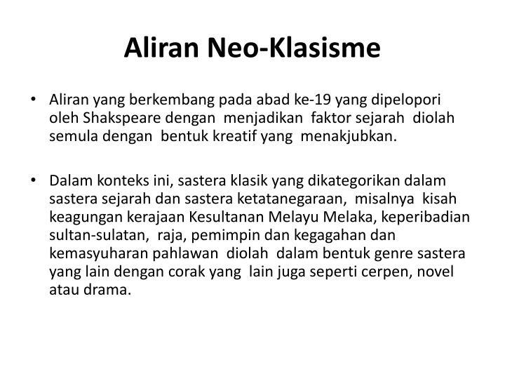 Aliran Neo-Klasisme