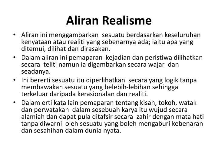 Aliran Realisme