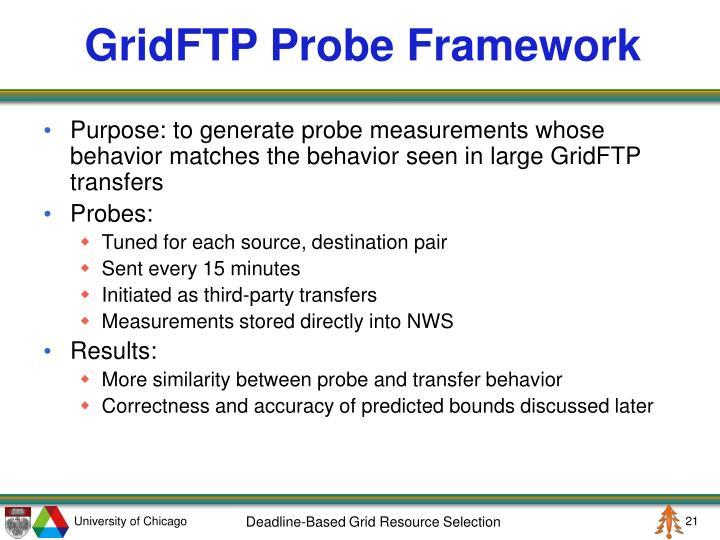 GridFTP Probe Framework