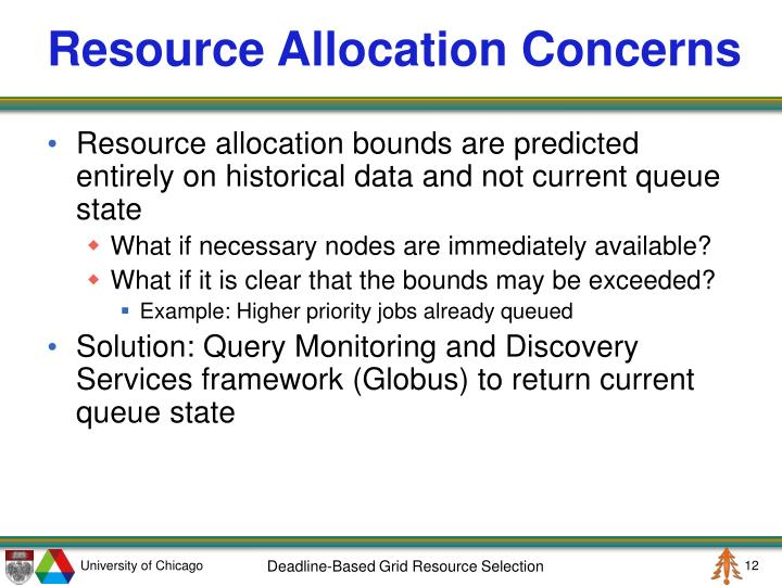 Resource Allocation Concerns