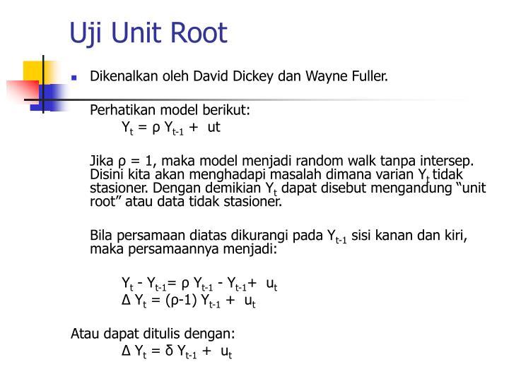 Uji Unit Root