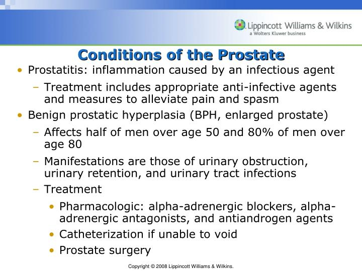 Conditions of the Prostate